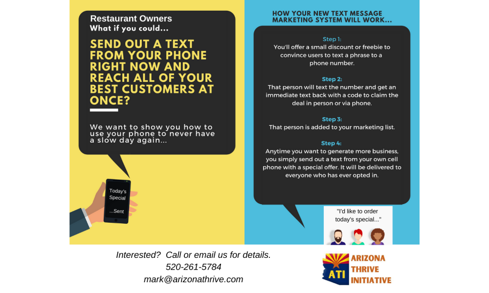 Restaurant Owners Text messaging Service