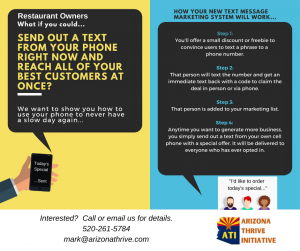Now restaurants can text specials to customers