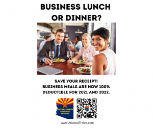Save your receipt! Business meals are now 100% deductible for 2021 and 2022